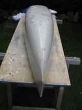 Black Pearl 4_ Der Positivrumpf ist mit Trennlack versehen, der Rumpf kann laminiert werden